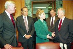 Hillary Clinton on Capitol Hill