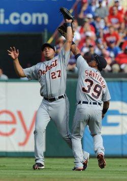 Peraitia, Santiago collide in game two of the ALCS in Texas