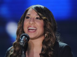 """Melanie Amaro atrends """"The X Factor"""" news conference in Los Angeles"""