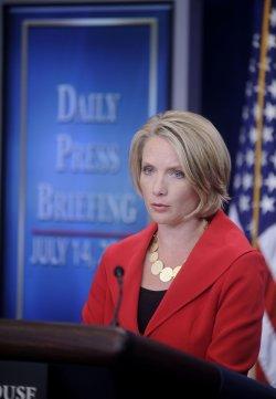 White House Press secretary Dana Perino delivers press briefing in Washington