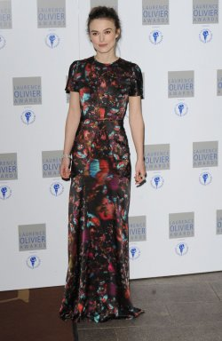 "Keira Knightley attends ""The Laurence Olivier Awards"""