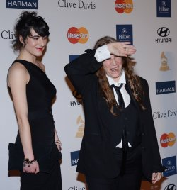 Patti Smith and daughter Jesse attend the Clive Davis pre-Grammy party in Beverly Hills, California