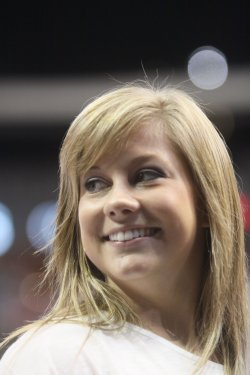 Olympic gold medal winner Shawn Johnson is seen at the Visa Chamnpionhip in Dallas