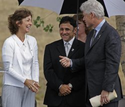 COLUMBINE MEMORIAL GROUNDBREAKING ATTENDED BY FORMER PRESIDENT CLINTON