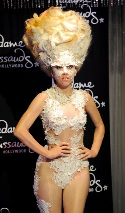 Lady Ga Ga wax figure unveiled at Madame Tussauds in Los Angeles