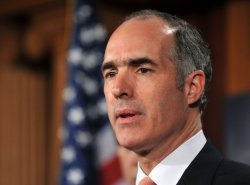 Sen. Bob Casey (D-PA) speaks on the financial reform bill in Washington