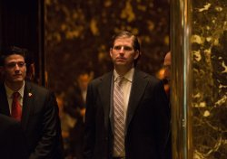 Eric Trump arrives at Trump Tower in New York