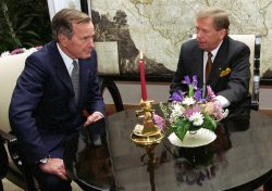 Vaclav Havel and George Bush