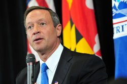 Gov. Martin O'Malley speaks on nationals security in College Park, Maryland
