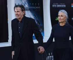 """Leonard Nimoy and Susan Bay attend the """"Star Trek into Darkness"""" premiere in Los Angeles"""
