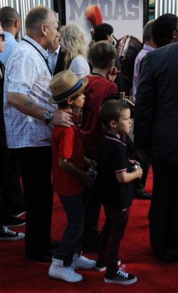 "Cruz and Brooklyn Beckham attend the ""Real Steel"" premiere in Universal City, California"