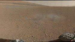 Rover Curiosity image of Mount Sharp on Mars