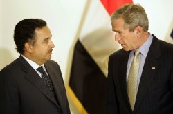 Bush visits Egyptian embassy