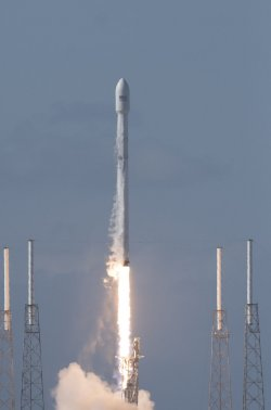 SpacEx launches the Thaicom 8 Satellite from the Cape Canaveral Air Force Station