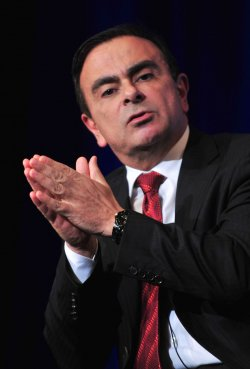 Carlos Ghosn, Chairman and CEO of Renault-Nissan Alliance, speaks in Washington