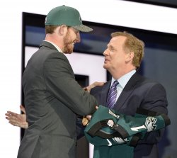 Philadelphia Eagles select Carson Wentz at NFL Draft in Chicago