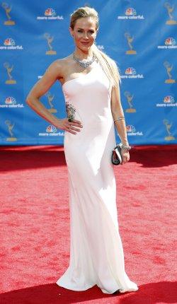 Julie Benz arrives at the 62nd Primetime Emmy Awards in Los Angeles