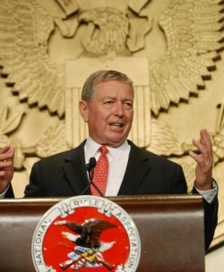 JOHN ASHCROFT SPEAKS AT NRA CONVENTION IN WASHINGTON