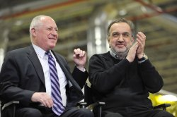 Chrysler Chairman and CEO Marchionne and Illinois Gov. Quinn attend event in Belvidere, Illinois