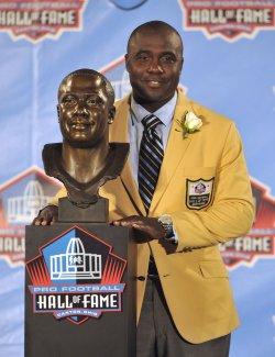 Marshall Faulk at Pro Football Hall of Fame Enshrinement
