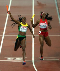 Jamaica Wins the 4x400 Meters Women's Relay Final at the World Championships in Beijing