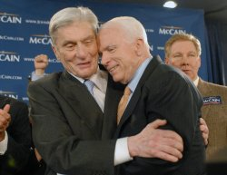 Sen. McCain speaks at election rally in Alexandria, Virginia