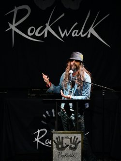 Korn is inducted into Guitar Center's RockWalk in Los Angeles