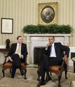 President Obama meets with New Zealand PM John Key in Washington