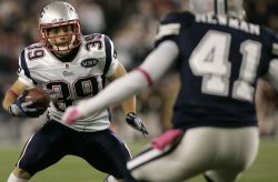 Patriots Woodhead faces down Cowboys Newman at Gillette Stadium in Foxboro, MA.