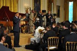 First Lady Michelle Obama Hosts a Jazz Studio in Washington