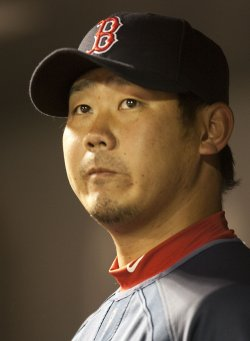 Red Sox Pitcher Matsuzaka Watches Game Against the Rockies in Denver
