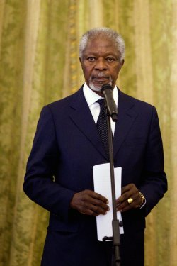 Former UN Secretary General Kofi Annan in Tehran for Talks