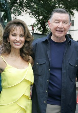 "Susan Lucci and Larry Jones arrive for the Feed the Children/""Daytime Gives Back"" project in New York"