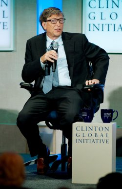 Bill Gates speaks at the 2013 Clinton Global Initiative Annual Meeting in New York
