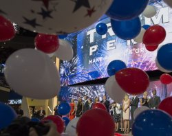 Balloons fall at the GOP convention in Cleveland