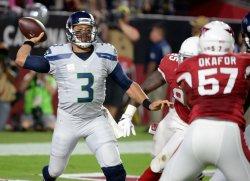 Seahawks' Wilson throws pass