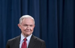 Attorney General Jess Sessions holds a press conference in Washington, D.C.