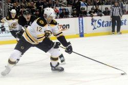 Boston Bruins Rolston Takes Shot in Pittsburgh