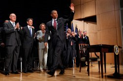U.S. President Obama Signs Finance Reform Bill Into Law in Washington