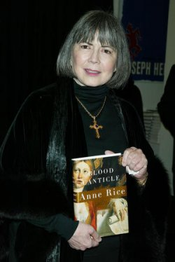 """ANNE RICE SIGNS NEW BOOK """"BLOOD CANTICLE"""""""