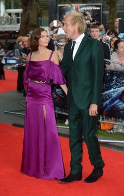 "Anna Friel and Rhys Ifans attend the Gala Premiere of ""The Amazing Spider-Man"" in London."