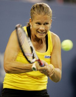 Melinda Czink competes in second round at the US Open tennis in New York