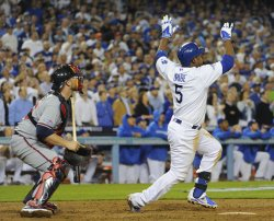 Los Angeles Dodgers vs Atlanta Braves in Game 4 of the NLDS in Los Angeles