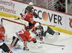 Minnesota Wild vs. Chicago Blackhawks in game 1 of Western Conference Quarterfinals