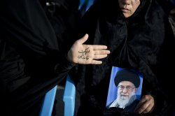 Demonstration against ISIS in Tehran, Iran