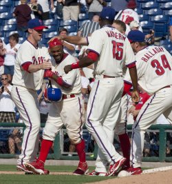 Philadelphia Phillies Jimmy Rollins wins the game with a RBI.