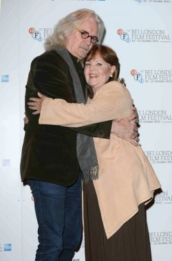 """Billy Connolly and Pauline Collins attend """"Quartet"""" photocall in London."""