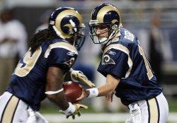 St. Louis Rams Steven Jackson and Marc Bulger