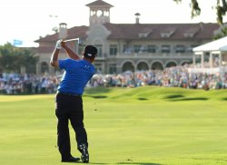 K.J. Choi hits an approach shot during the TPC Players in Florida