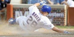 Chicago Cubs Baker Scores Against San Francisco Giants